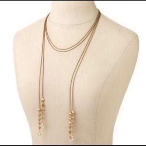 NEW STELLA & DOT  Gold BrynnLariat Necklace